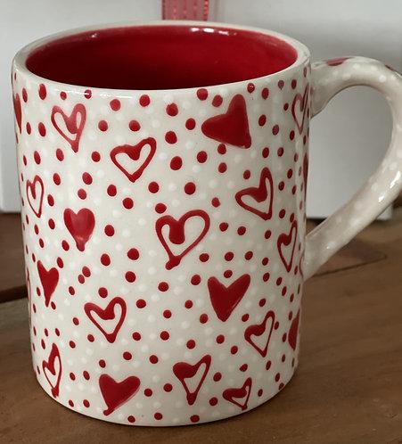 Handcrafted Ceramic Valentine Mug Small