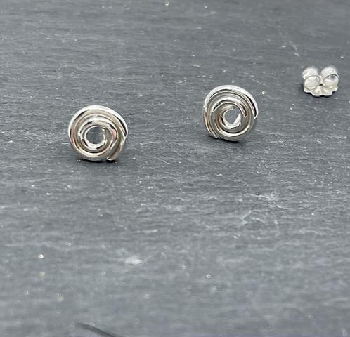 Sterling Silver Spiral Studs