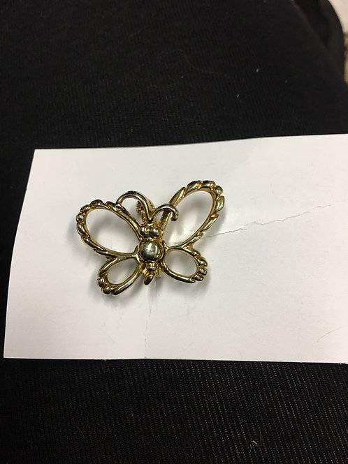 Gold Butterfly Lapel Pin
