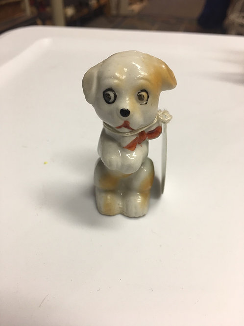 Vintage Bone China Dog Made in Occupied Japan