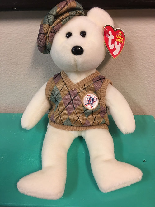 """Plush Collectable: Ty Beanie Baby ™️ """"TOUR Teddy""""™️ 2006 Ty Inc."""