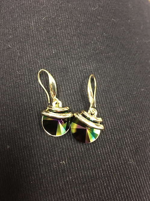 Gold Toned Spring Drop Swarovski®️ Earrings