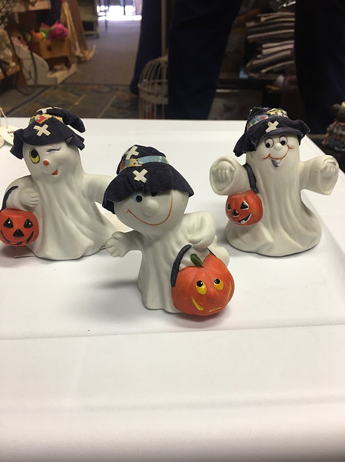 Trio of Ghostly Trick or Treaters