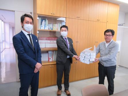 株式会社ヒライ様からマスクを寄贈いただきました。