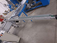 "Custom Made 2"" x 10' Powered Belt Transfer Conveyor, conveyor, process, packaging, equipment, machinery"