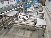 Macro Packing Line, Negative weigh scale, herma labeler
