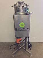 4 Gallon Custom Built Fermenter w/ Heater and Mixer, Process, food, beverage, pharmaceutical, galick packaging, equipment, machinery, kettle