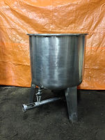 100 Gallon Stainless Steel Single Wall Tank with Round Bottom