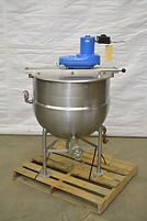 60 Gallon Stainless Steel Jacketed Kettle w/Mixer, Machinery, Packaging, Equipment, Industrial, Kettle, Mixer, 60 Gallon