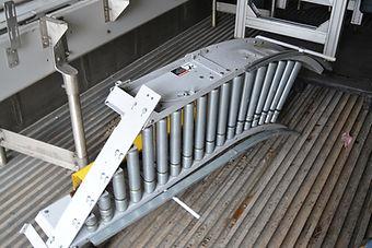 "15"" Wide Hytrol Live Roller Conveyor, 45 Degree"