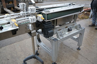 Custom Built Bottle Pusher / Indexing Conveyor w/ Dual Drive Belt System