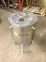 100 Gallon Stainless Steel Single Wall Tank, 100 Gallon, Vertical Tank, Process, food, beverage, galick packaging