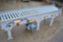"15"" Wide Hytrol Live Roller Conveyor, 8' Length"