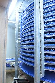 """26"""" Wide Mat Top Belt Spiral Conveyor, 800' Belt Length, 15 Tier High"""
