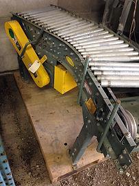 "20"" Wide Hytrol Live Roller Conveyor, 45 Degree w/ Drive. Model TA"