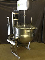 60 Gallon Lee Industries Stainless Steel Jacketed Cooking Kettle w/ Mixer, Process, food, beverage, pharmaceutical, galick packaging, equipment, machinery, kettle