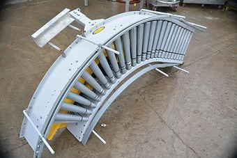 "15"" Wide Hytrol Live Roller Conveyor, 90 Degree Corner"