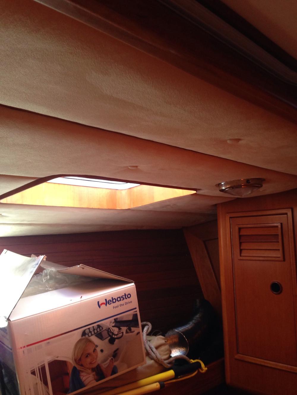 Midships cabin headlining