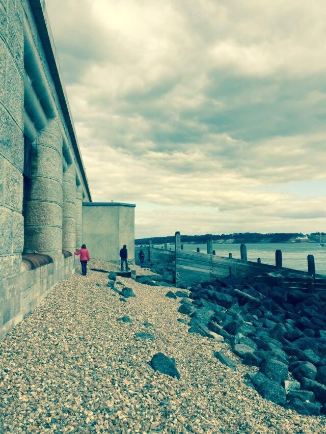 Hurst Castle at low tide