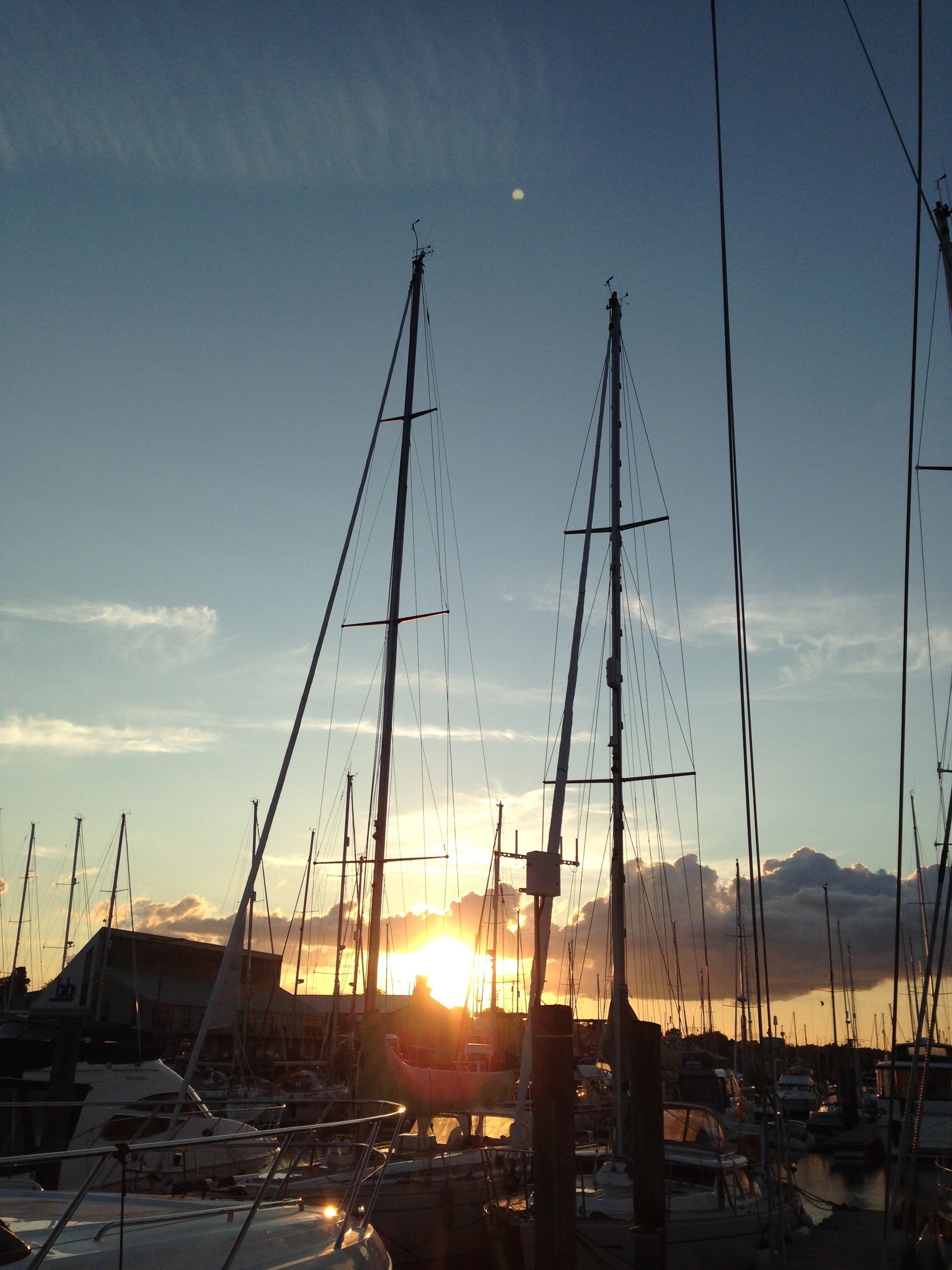Sunset at Berthon