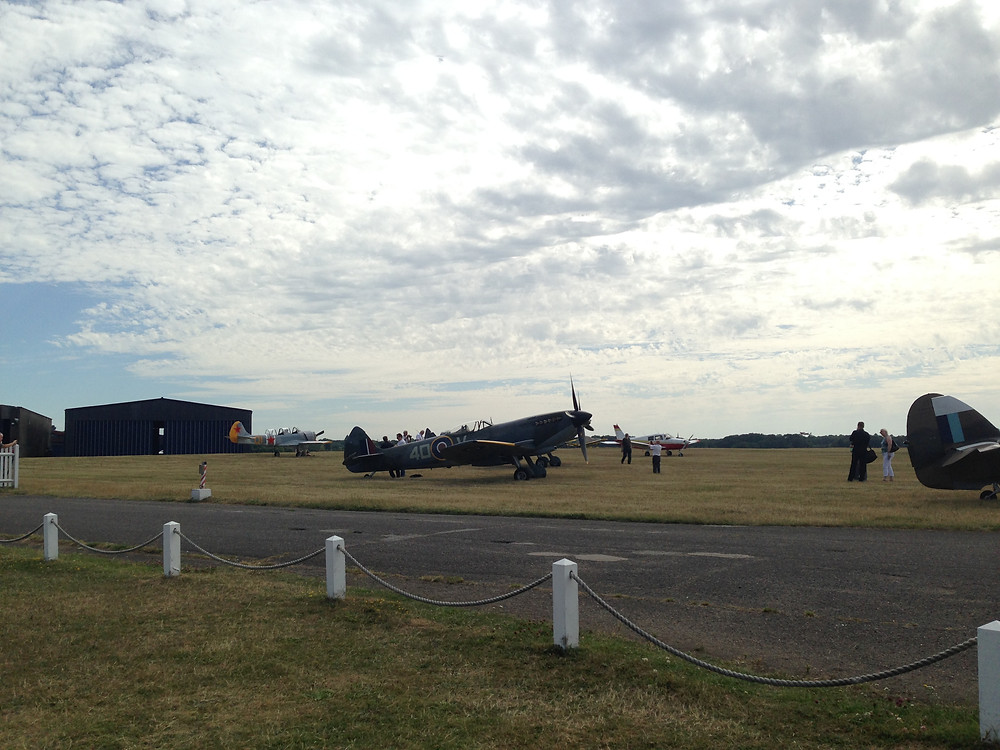 View from the lawn - two Spitfires