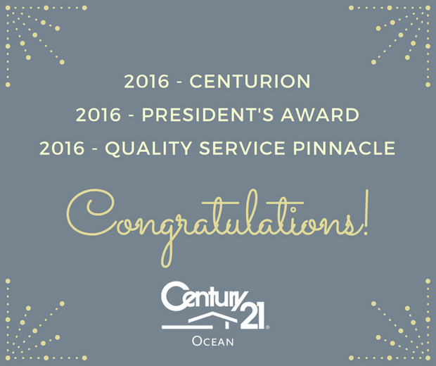 CENTURY 21 Ocean Receives President's Award for Commitment to Quality Service and Productivity