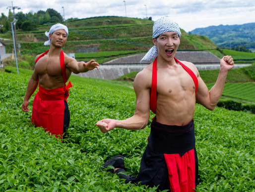 Stock photo site 'Muscle Plus' releases new collection featuring models frolicking in tea fields