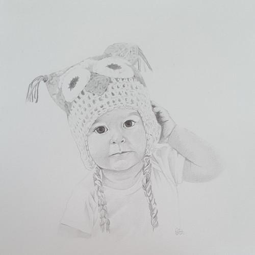 Graphite Baby Portrait