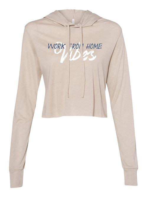 Work From Home Vibes | Ladies Crop Hoodie