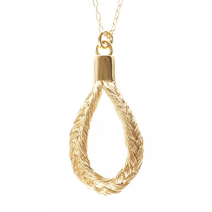 Fishbone Plait Teardrop Earrings (Golden Blond)