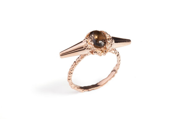 Rose Meteor Shower II Luxe Ring