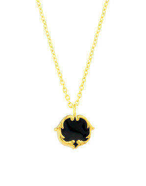 Scroll Stud Pendant - Swan Black