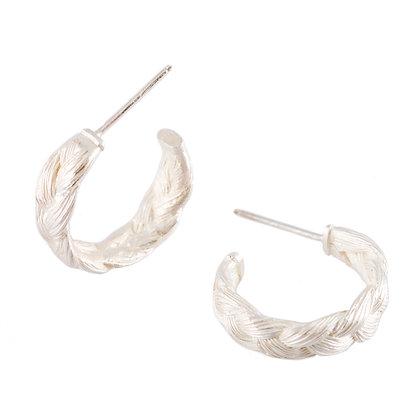Magnitude Hoop Silver Earings