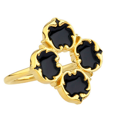 Harlequing Ring - Swan Black