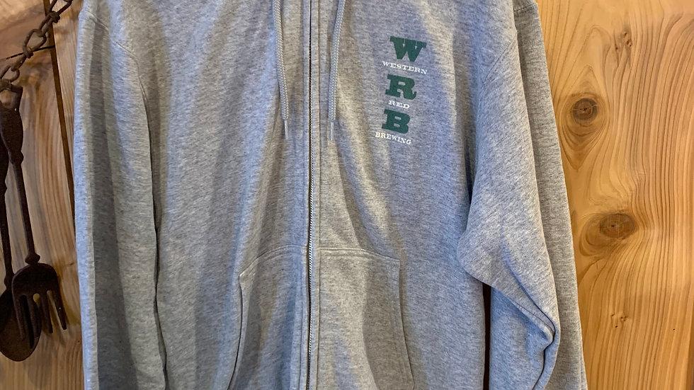 WRB Grey Full Zip hoodie