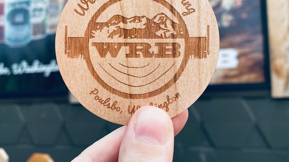 WRB Wood Sticker