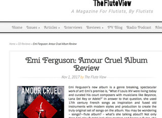 Amour Cruel reviewed in The Flute View