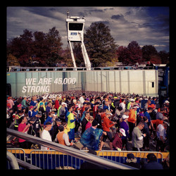 Filming NYC Marathon 2013