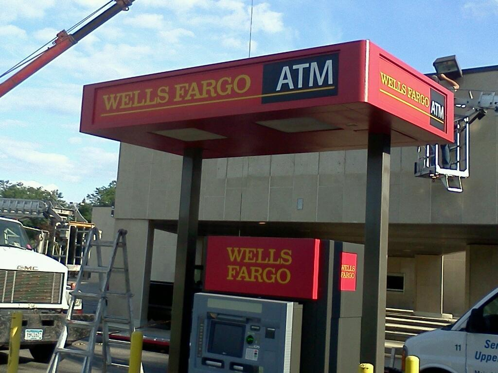 Fresh paint for ATM canopies