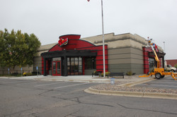Painting Red Robin's exterior