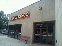 Completed exterior for Wells Fargo