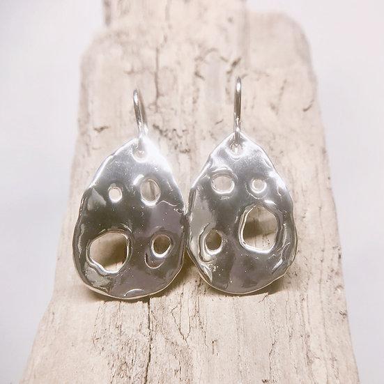 Leaf Decay earrings - sterling silver