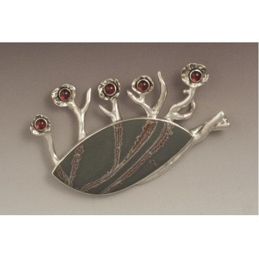 Cherry Blossoms - pin/pendant