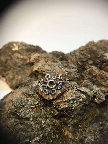 Constellation Bubble ring - sterling silver