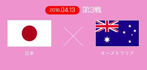 サッカーAFC女子アジアカップ2018 W杯最終予選「日本×オーストラリア」4/13(金)よる10時30分~