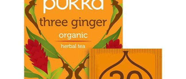 Pukka Organic 3 Ginger 20 Tea Bags