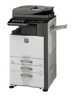 Refurbished - Sharp MX-5140 Color - 3 Drawers Fax - Print - Scan - Stapler (1)