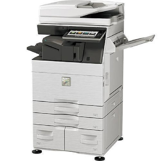 Refurbished - Sharp MX-3570 Color - 2 Drawers Fax - Print - Scan - Staple (2)
