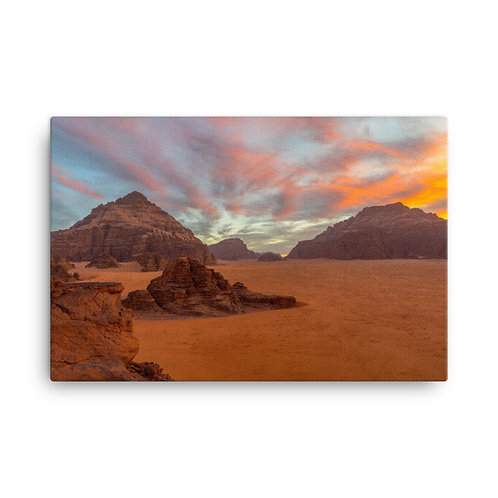 Wadi Rum, Jordan Sunset [Canvas Print}