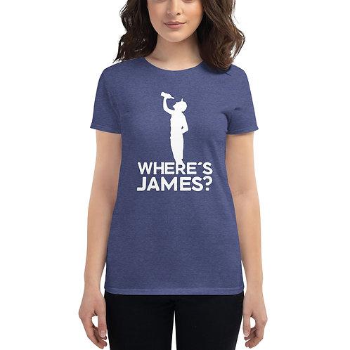 Where's James? Women's short sleeve t-shirt